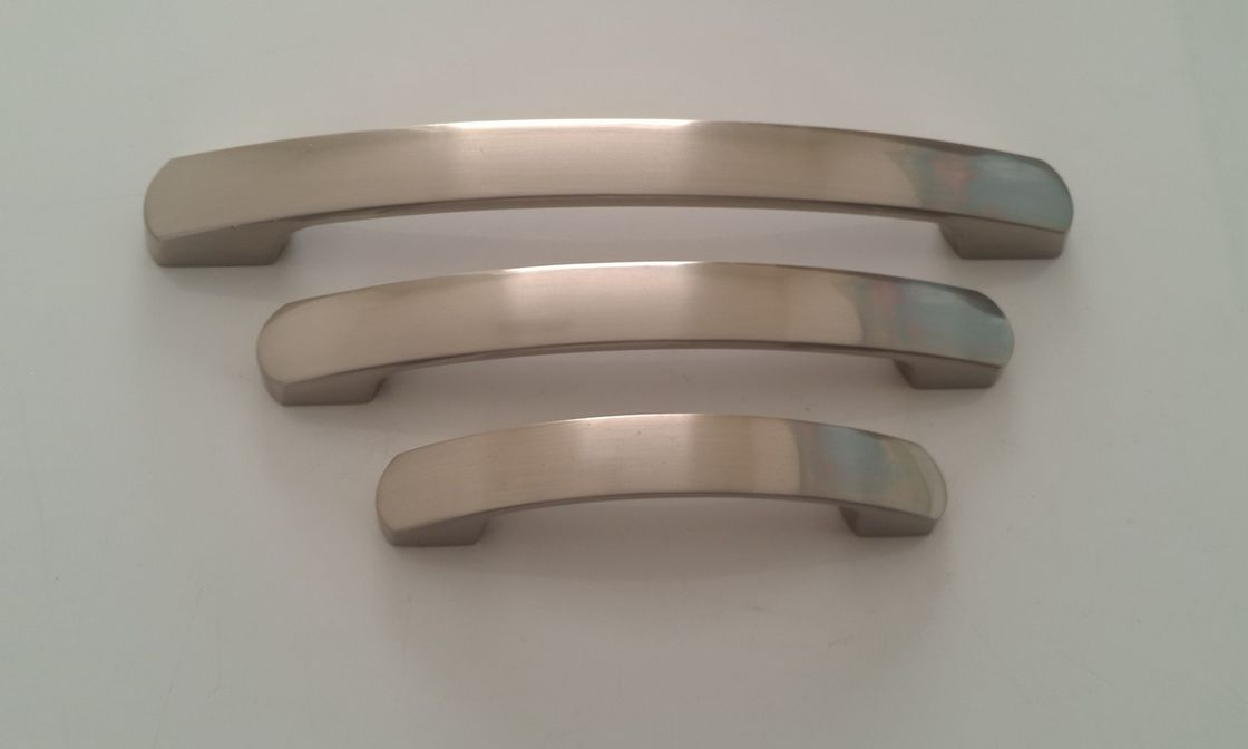64/96/128mm Space Furniture Pulls And Handles / Cupboard Handles 6004 zinc alloy satin nickel and gold