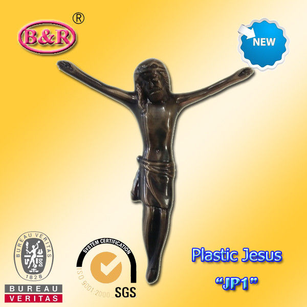 "Plastic Jesus Cross And Crucifix Model "" JP1 "" Size 13×15cm Funeral Decoration"