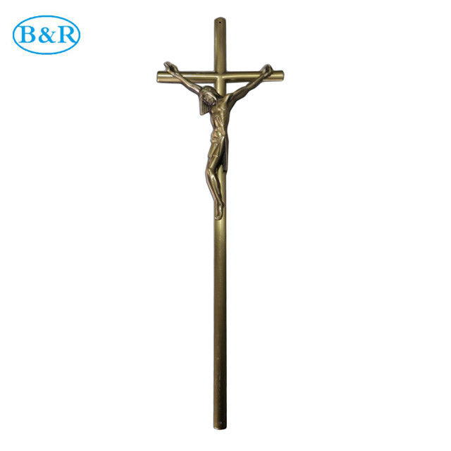 Size 52×16 Cm Zamak Cross And Crucifix Ref No D078 Coffin Ornaments