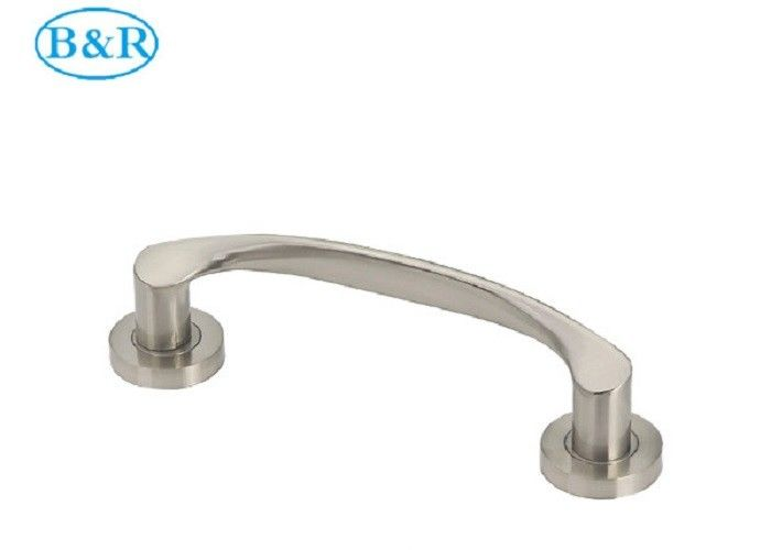 Nickel Brushed Aluminum Alloy Handles B011 Metal Door Accessories