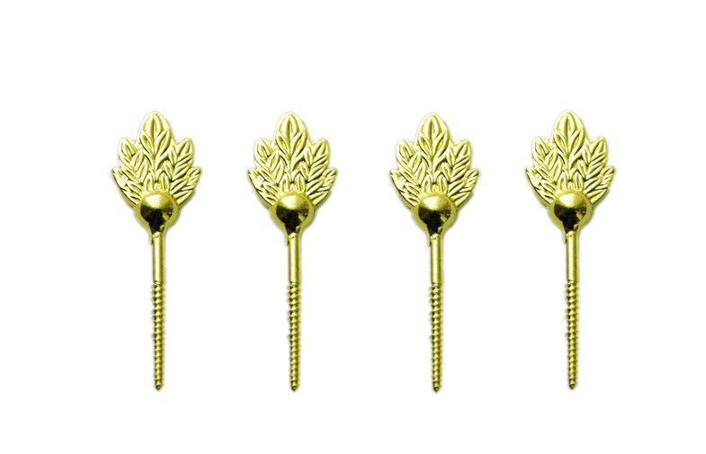 Brass color zamak leaf screw for coffin lid , coffin fittings D005