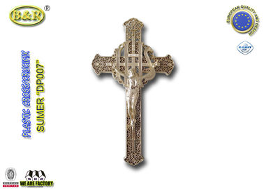 Plastik Golden Color Funeral Cross dan Crucifix DP007 30cm * 17cm plasticos crucifijos y cristos
